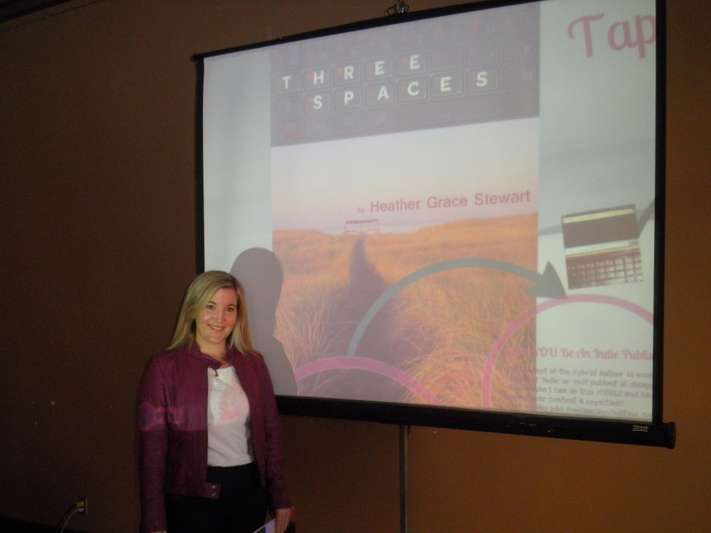 Taken before my workshop on indie publishing, 'There's an App for that: YOU!'